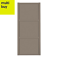 Shaker Stone grey Sliding wardrobe door (W)914mm