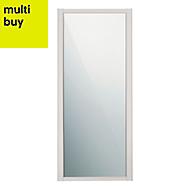 Shaker Cashmere Mirror Sliding wardrobe door (W)914mm