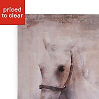 Horse Grey Canvas art (H)420mm (W)300mm
