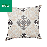 Geometric Grey & soft pink Cushion