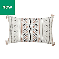 Navajo Grey & white Cushion