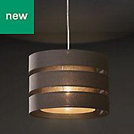 Colours Trio Dark grey Classic Light shade (D)350mm