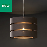 Colours Mini Trio Dark grey Classic Light shade (D)280mm