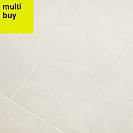 Castles Mist Gloss Marble effect Ceramic Wall tile, Pack of 14, (L)500mm (W)200mm