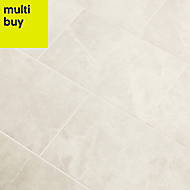 Minerva Silver Gloss Marble effect Ceramic Wall tile, Pack of 10, (L)400mm (W)250mm