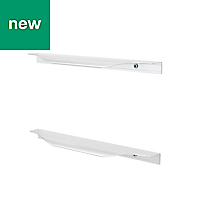GoodHome Andali Brushed Straight Pull handle (L)247mm, Pack of 2