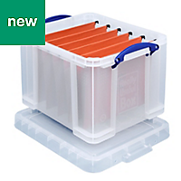 Clear 35L Plastic Storage box