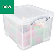 Really Useful Clear 35L Plastic Bauble Storage box