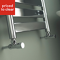 Kudox Linear 240W Silver Towel warmer (H)950mm (W)500mm
