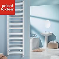 Kudox 703W White Towel warmer (H)1674mm (W)600mm