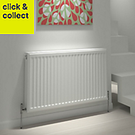 Kudox Type 22 double Panel radiator White, (H)500mm (W)600mm