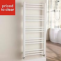 Kudox Timeless 460W White Towel warmer (H)1100mm (W)500mm