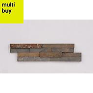 Splitface Multicolour Matt Natural stone Wall tile, Pack of 8, (L)360mm (W)100mm