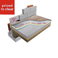 Celotex Foil faced polyisocyanurate (PIR) Insulation board (L)2.4m (W)1.2m (T)75mm