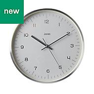 Jones Studio Contemporary Chrome effect Clock