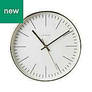 Jones Studio Contemporary Gold effect Quartz Clock