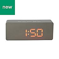 Jones White Digital Alarm Clock