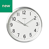 Jones California Contemporary Silver effect Quartz Mantle clock