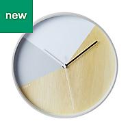 Jones Shutter Skandi Grey Quartz Clock