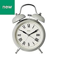 Jones Rise & shine Grey Alarm Clock