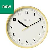 Jones Dime Yellow Wall Clock