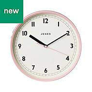 Jones Dime Contemporary Pink Quartz Clock