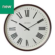 Jones Barber Contemporary Dark wood Quartz Clock