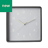 Jones Shack Contemporary Grey Clock