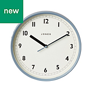 Jones Dime Contemporary Old boat blue Clock