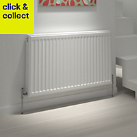 Kudox Type 21 Steel panel Type 21 Panel radiator White, (H)600mm (W)800mm
