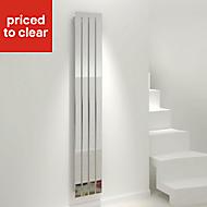 Kudox Tova Vertical Designer radiator Chrome Polished (H)1800 mm (W)310 mm