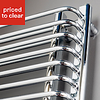 Kudox Spinaker Vertical Radiator Chrome (H)1300 mm (W)600 mm