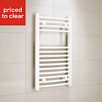 Kudox 250W White Towel warmer (H)700mm (W)400mm