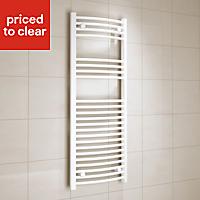 Kudox 456W White Towel warmer (H)1200mm (W)450mm