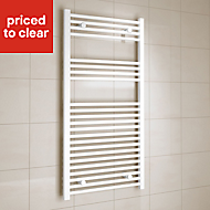 Kudox 573W Electric White Towel warmer (H)1200mm (W)600mm