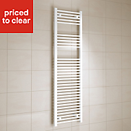 Kudox 637W Electric White Towel warmer (H)1600mm (W)450mm