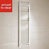 Kudox 637W White Towel warmer (H)1600mm (W)450mm