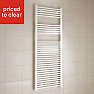 Kudox 805W Electric White Towel warmer (H)1600mm (W)600mm