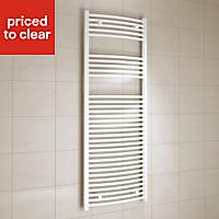 Kudox 805W White Towel warmer (H)1600mm (W)600mm