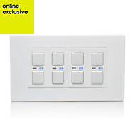 LightwaveRF Quadruple White Dimmer switch