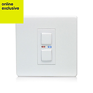 LightwaveRF 2 way Single White Dimmer switch