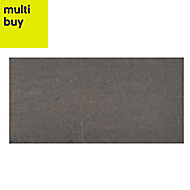 Opulence Smoke grey Gloss Stone effect Porcelain Floor & wall tile, Pack of 5, (L)600mm (W)300mm