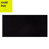 Opulence Black Gloss Stone effect Porcelain Floor & wall tile, Pack of 5, (L)600mm (W)300mm
