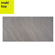 Opulence Smoke grey ripple Gloss Stone effect Porcelain Floor & wall tile, Pack of 5, (L)600mm (W)300mm