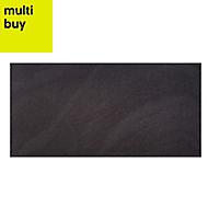 Opulence Black ripple Gloss Stone effect Porcelain Floor & wall tile, Pack of 5, (L)600mm (W)300mm