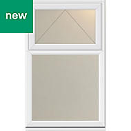 White PVC-U Top hung over fixed Casement window (H)1190mm (W)1040mm