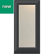 Grey PVC-U Side hung R/H Casement window (H)1040mm (W)610mm