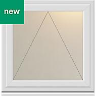 White PVC-U Top hung Casement window (H)610mm (W)440mm
