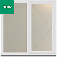 White PVC-U Side hung R/H Casement window (H)1190mm (W)1190mm