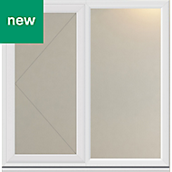 White PVC-U Side hung L/H Casement window (H)1040mm (W)1190mm